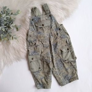 Other - Little boy olive dragon cargo overalls